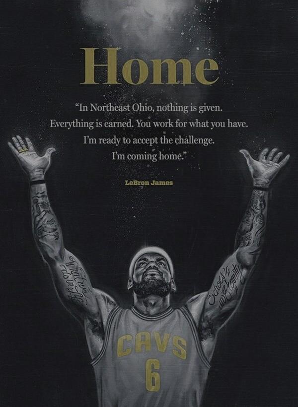 i m coming home lebron
