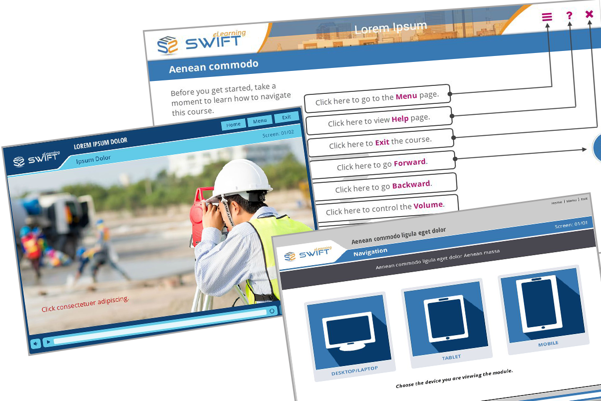 using custom made gui design to personalize e learning