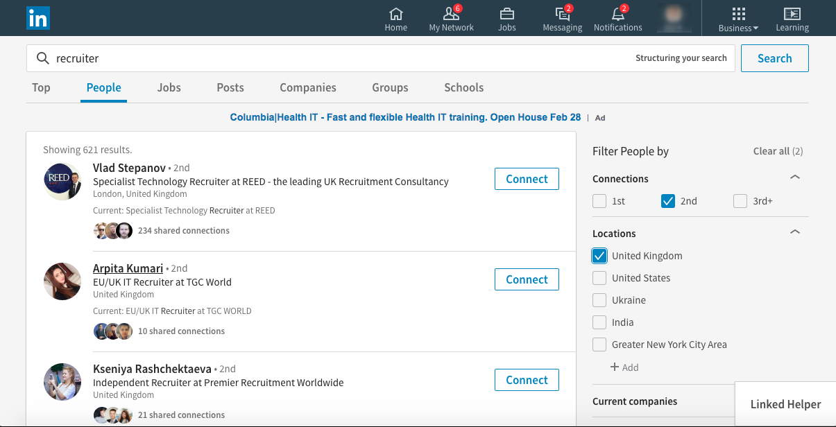 How to invite LinkedIn 2nd & 3rd connections : Automatically expand ...