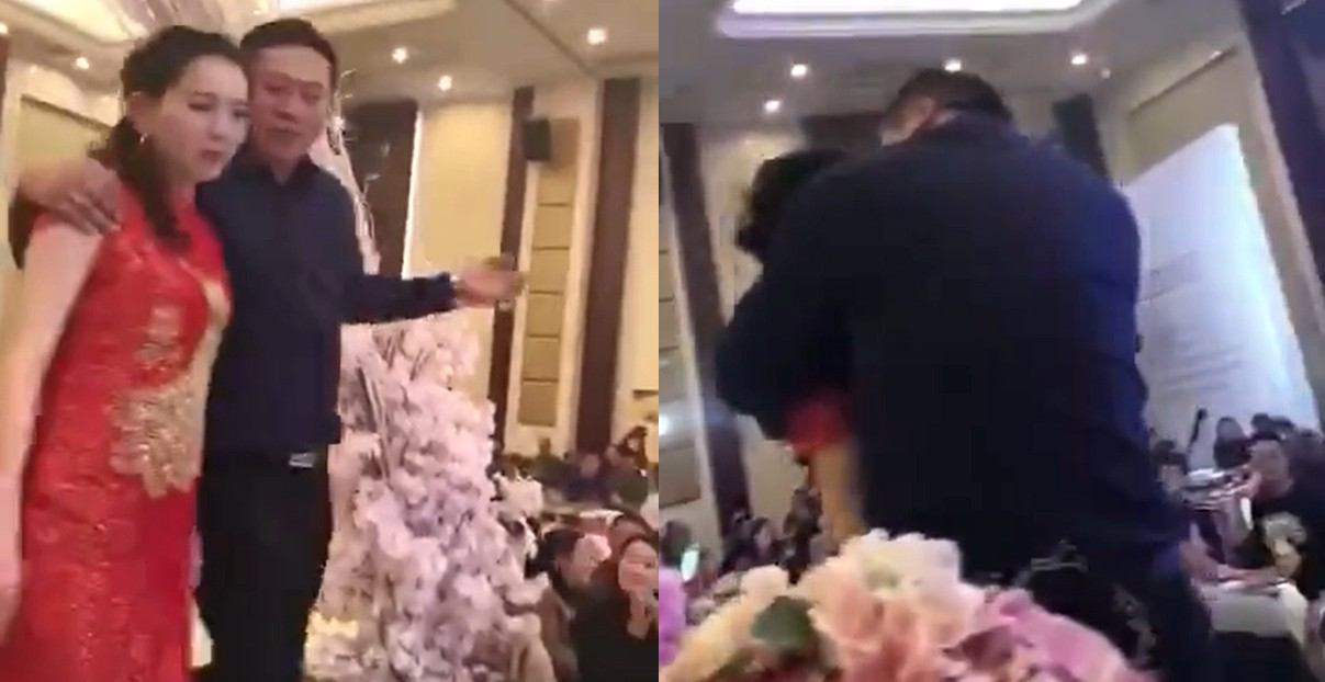 Father of groom gets drunk at wedding banquet, forces bride to kiss ...