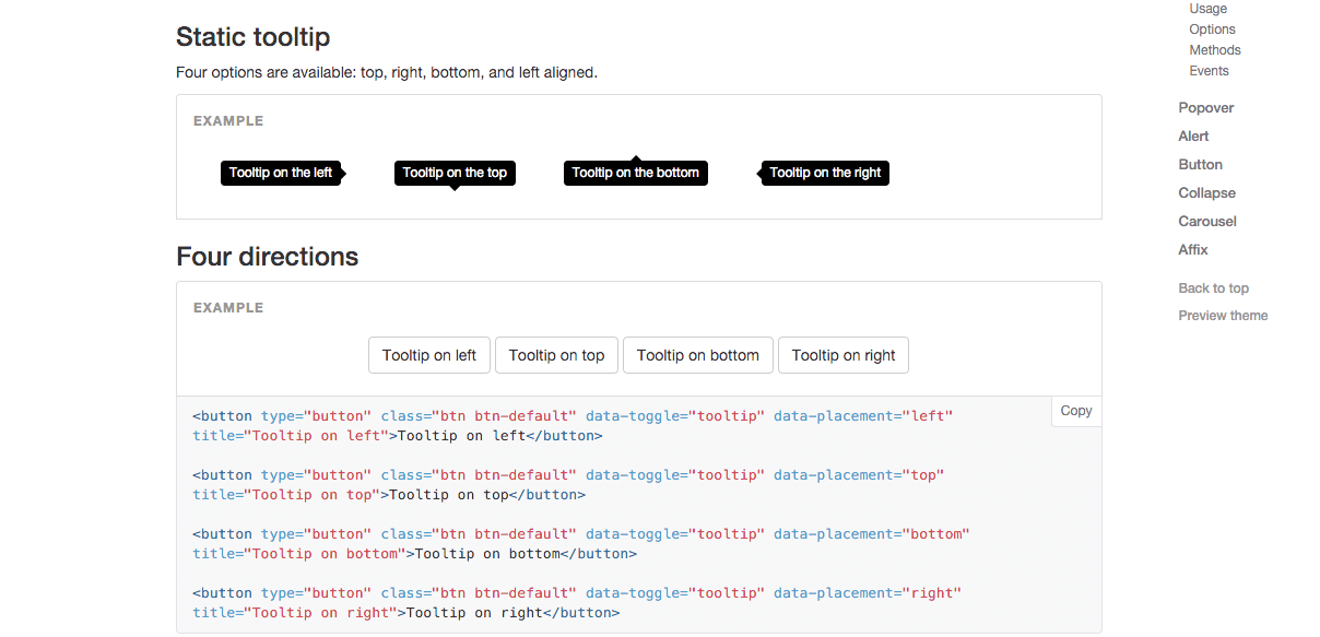 Bootstrap 2 Tooltip Example W3c Compliant Javascript Code For Html5