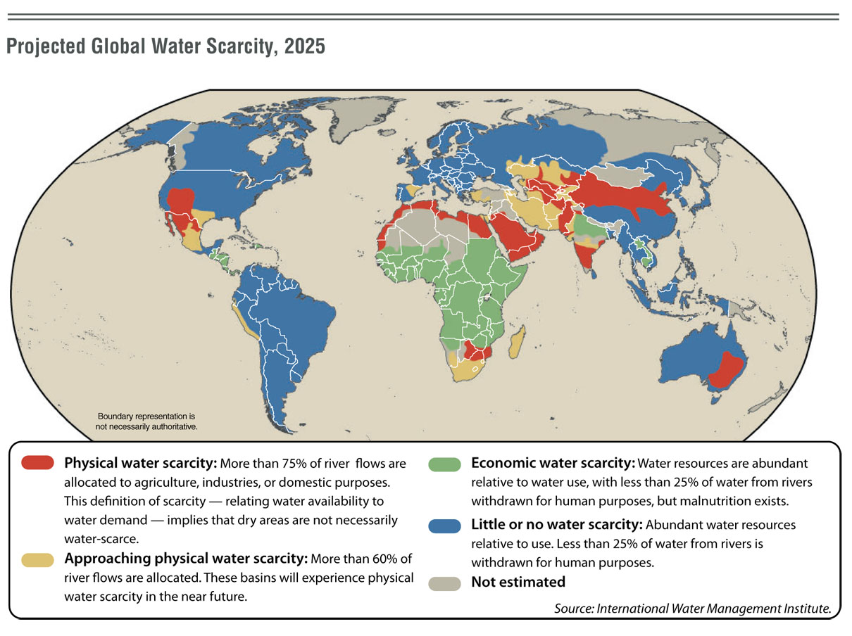 Data In Focus A New Way Of Looking At Water From The Macroscope - Water crisis map us
