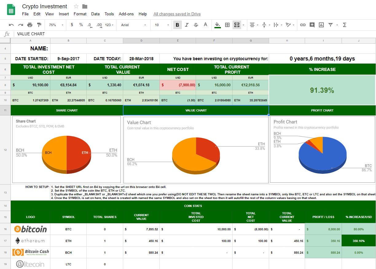 Small Cryptocurrencies To Invest In Spreadsheet For