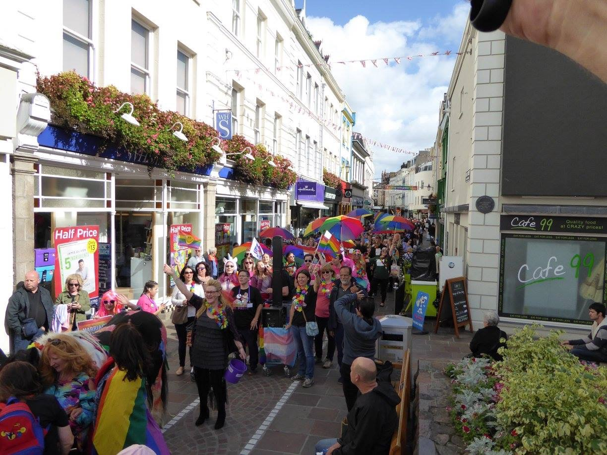 The Pride Parade Makes Its Way Through The Streets Of St Helier P O Credit Channel Islands Pride 2017