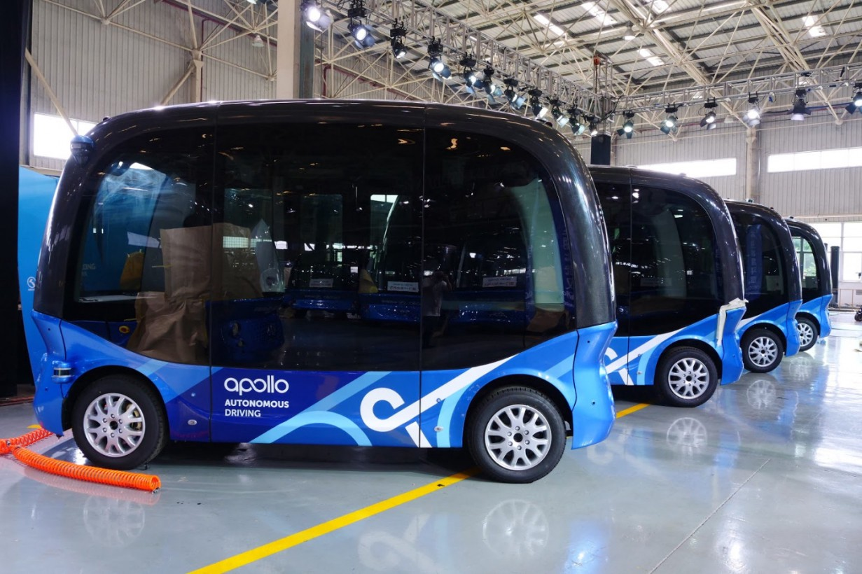 In China, launched a bus that drives over cars