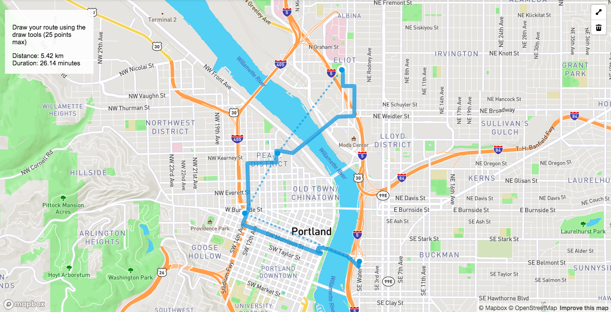 Map Hacks Directions API Draw Tools Points Of Interest - Map route distance tool