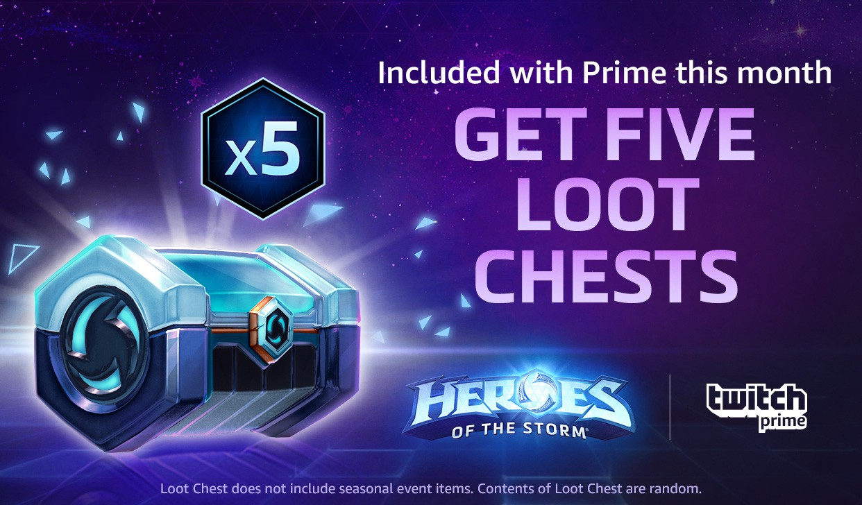 From October 10th — November 10th, Twitch Prime members can receive five  Loot Chests containing skins, sprays, banners, emojis, announcers, and more!