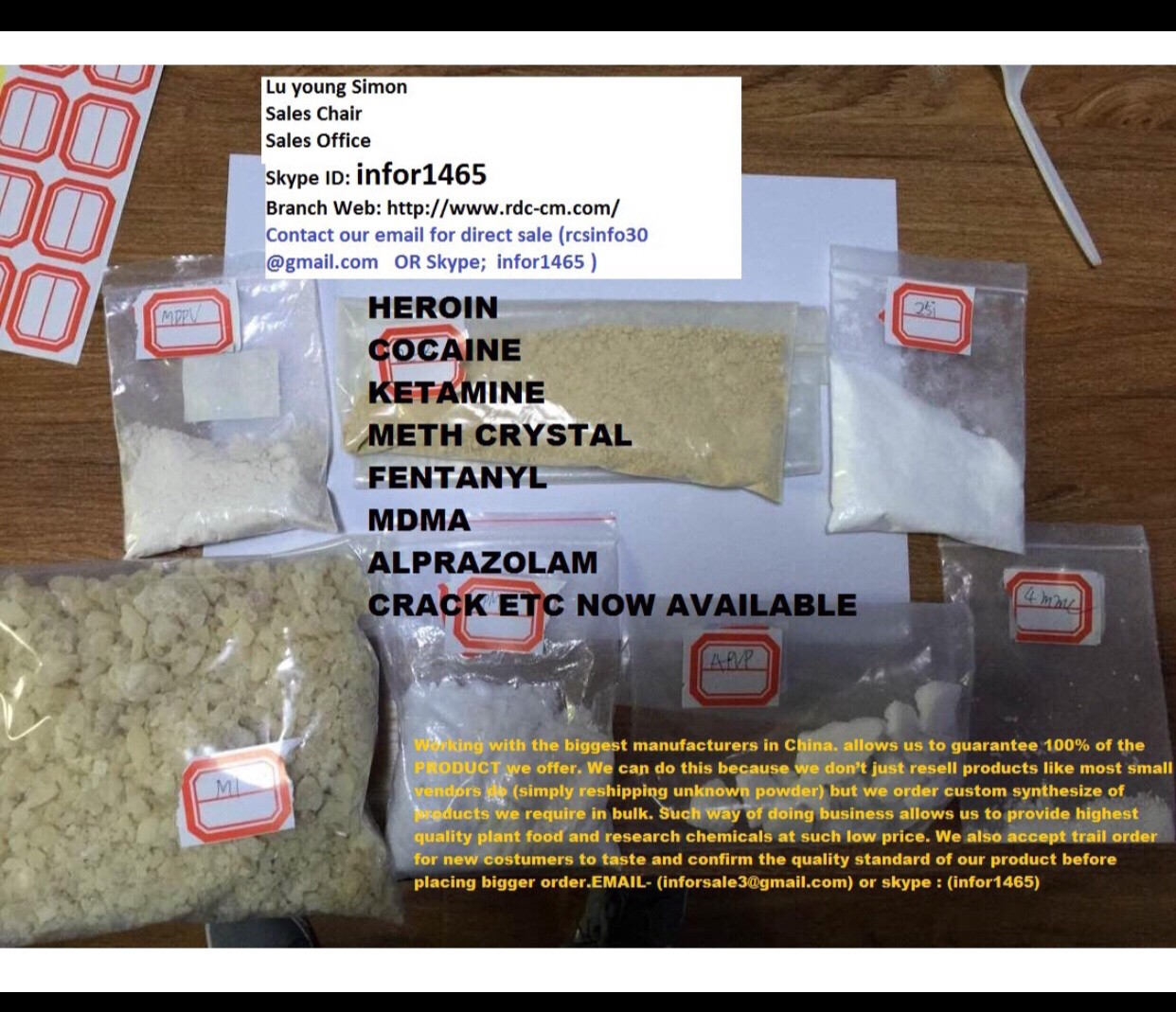 ,,,,,,Opiod Chemicals Medical,, ,, Mephedrone 4mmc,,Pure Cocaine,,Heroine,,,MDMA ,, Molly …