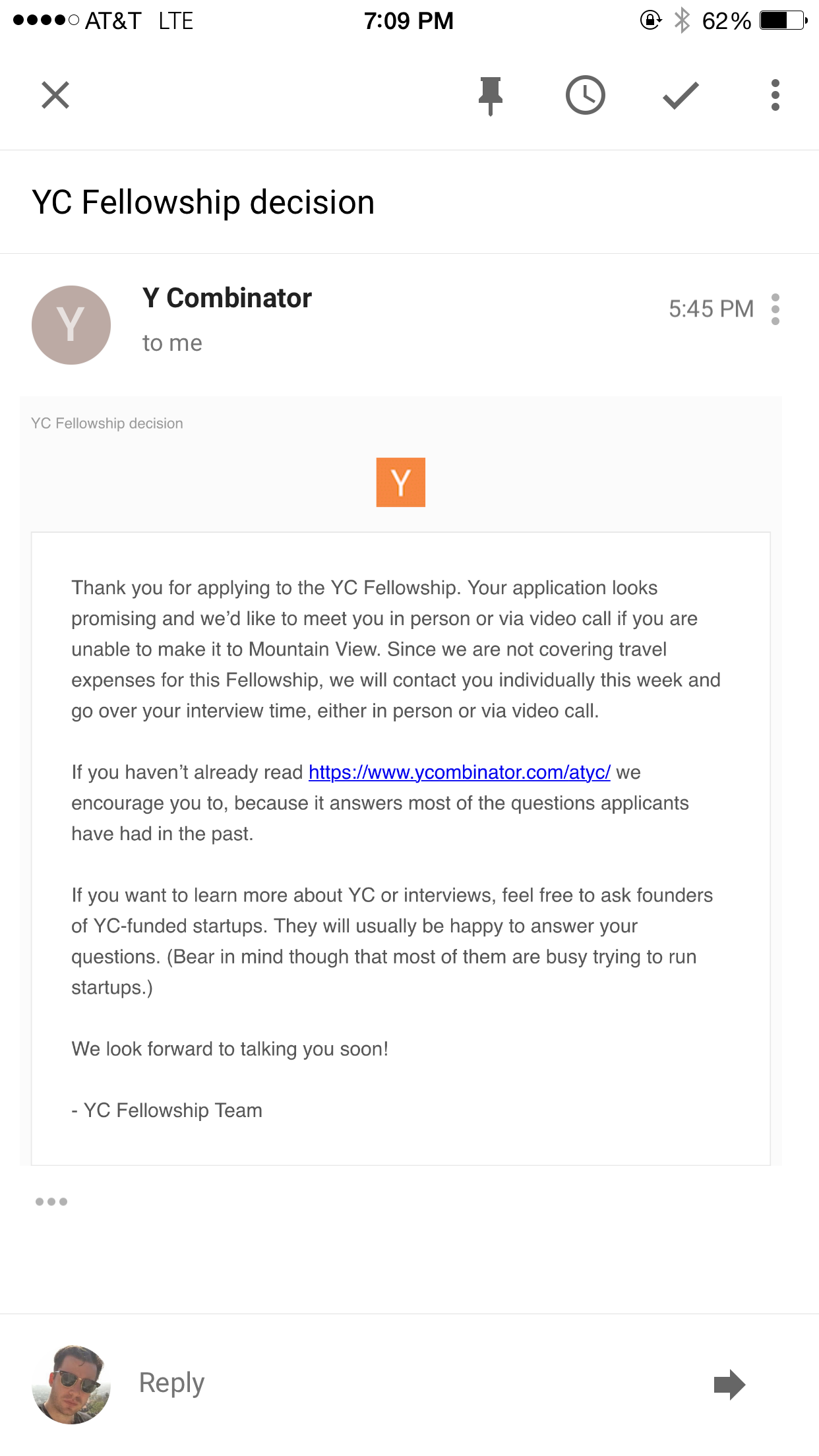 Ycombinator fellowship fake acceptance letter kurt braget medium here is the letter altavistaventures Images