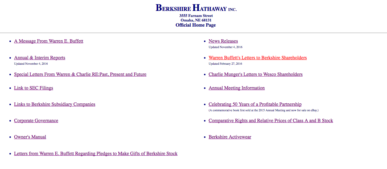 Why Warren Buffett\'s Website Looks Like This: The Theory of Counter ...