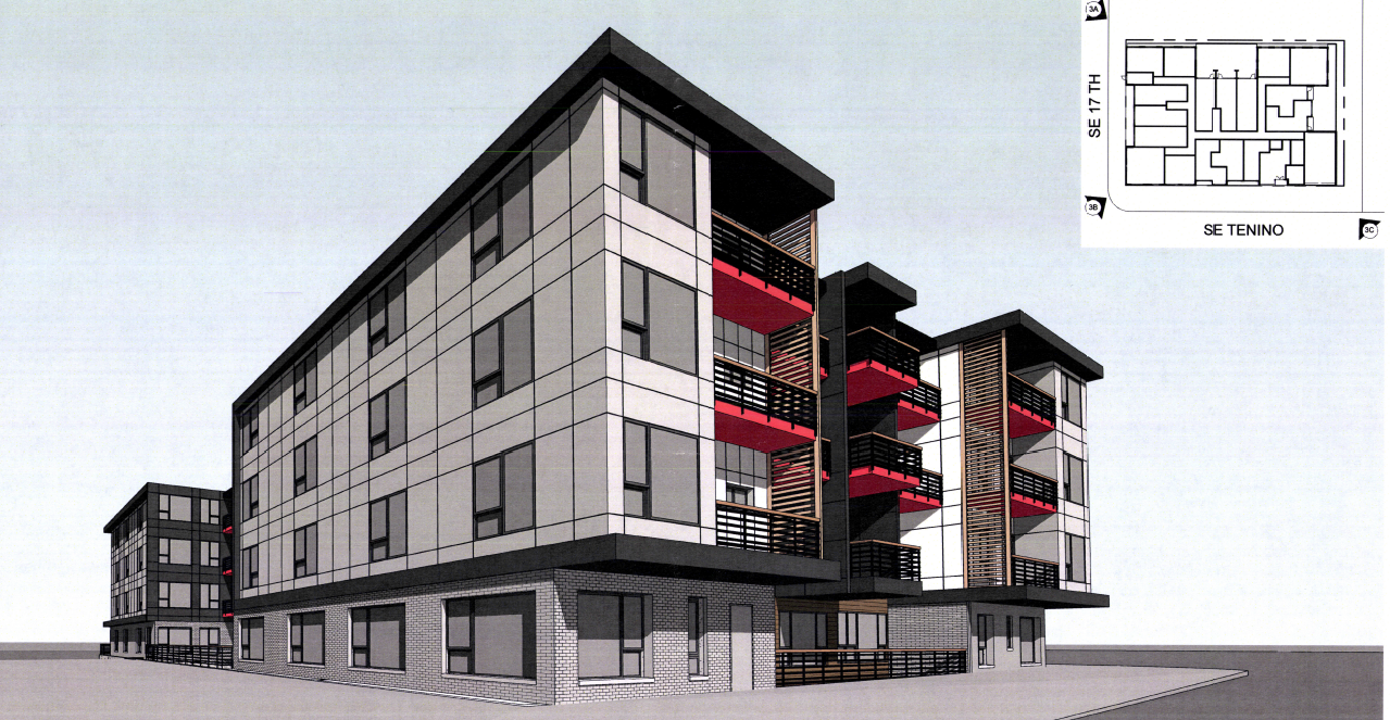 A proposed 89 unit building at SE 17th