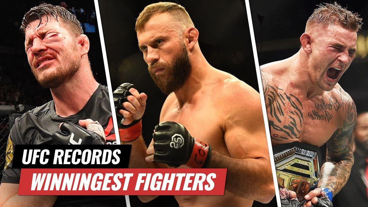 Most wins in UFC by divisions