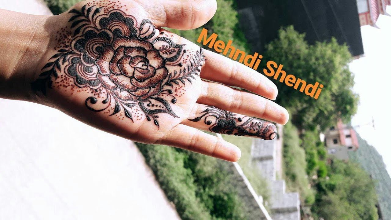 Latest Flower Mehndi Design : New gulf flower mehndi design latest for
