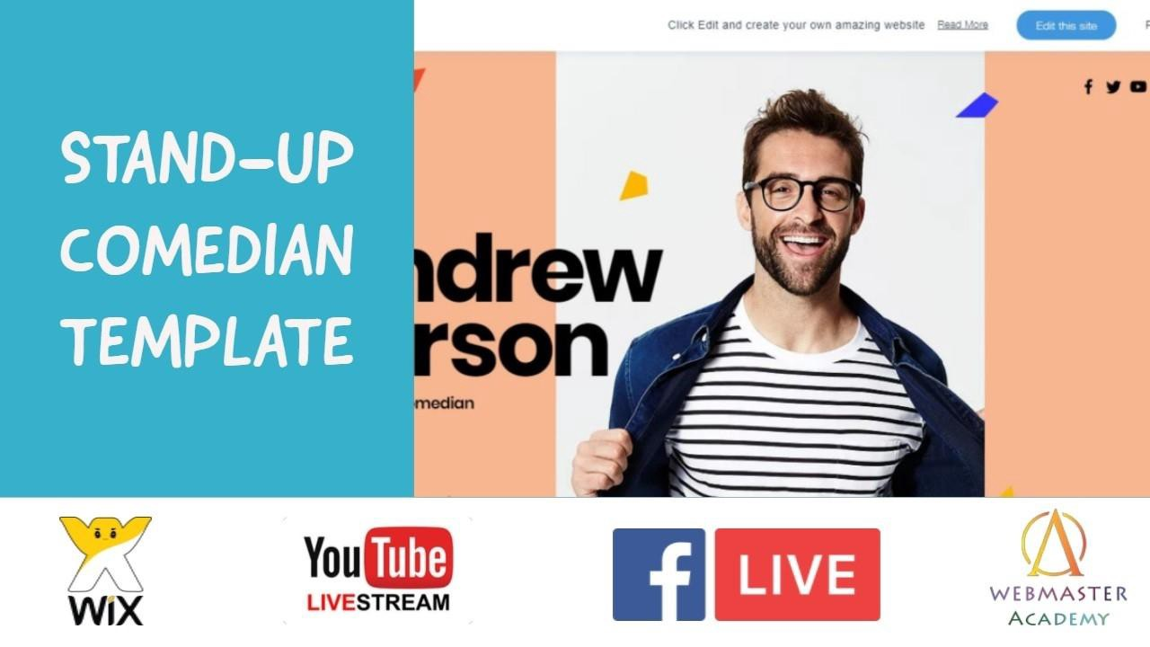 Stand Up Comedian Template From Wix Web Design Tutorial