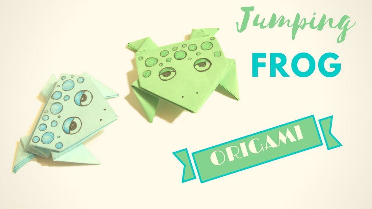 Origami jumping frog medium in this tutorial ill show you how to make easy origami frog from paper with your own hands this skipping origami frog made of paper will be an excellent jeuxipadfo Images