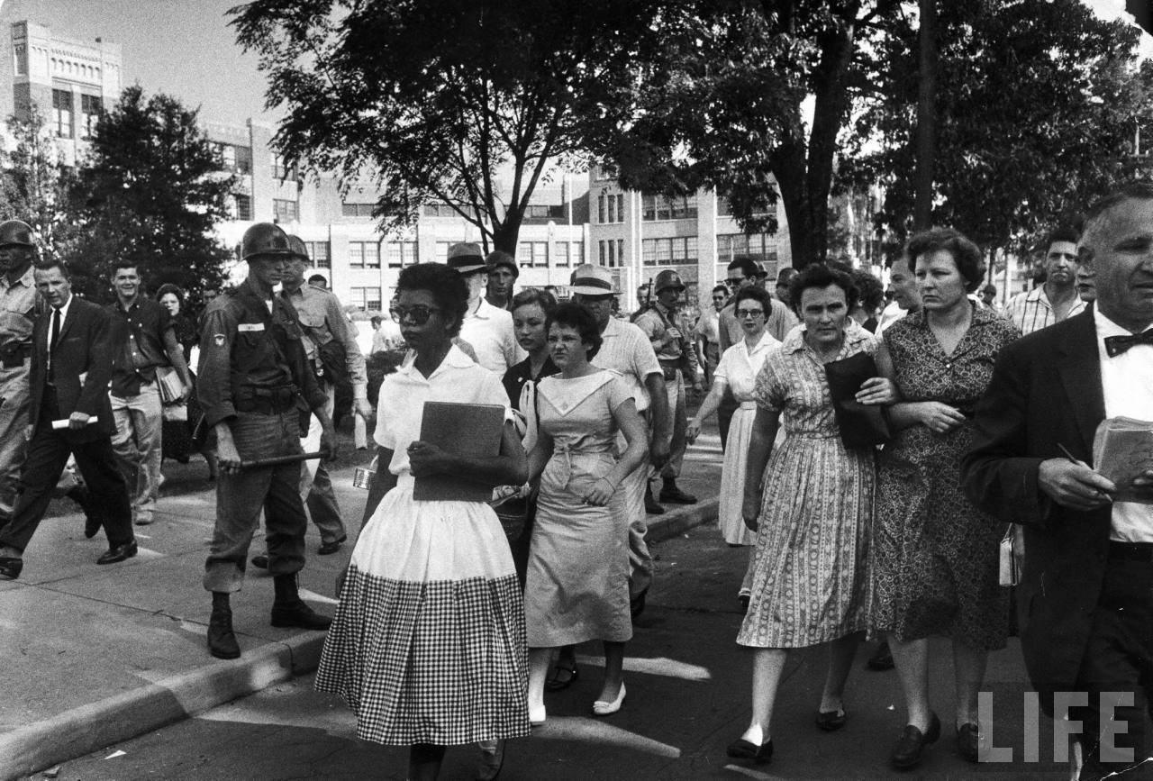 On this day in history September 4–5, 1957, Arkansas Governor Orval Faubus  orders the National Guard to prevent nine African Americans students known  as the ...