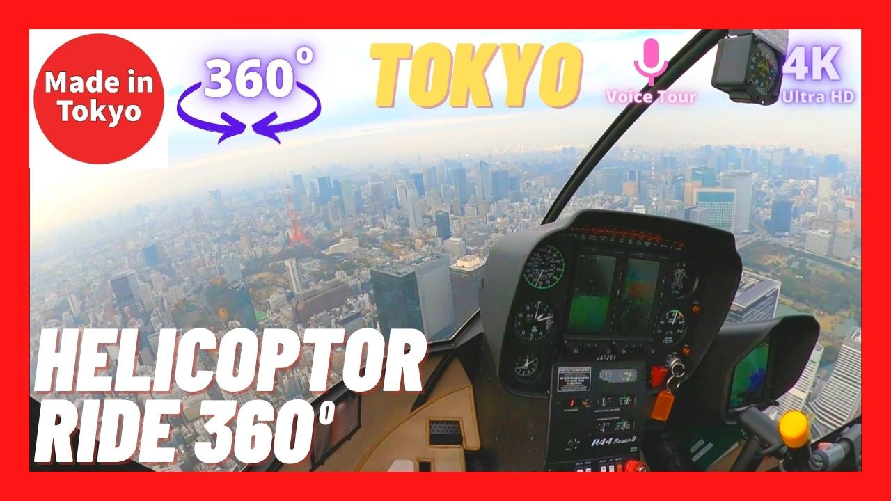 Helicopter Flight over Tokyo video in 360 Degrees