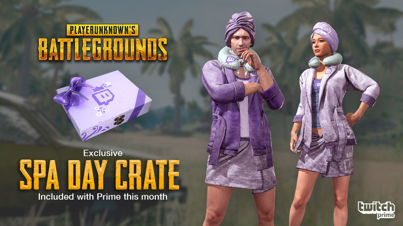 Twitch Prime Members, Relax on the Battlegrounds with a PUBG Spa Day