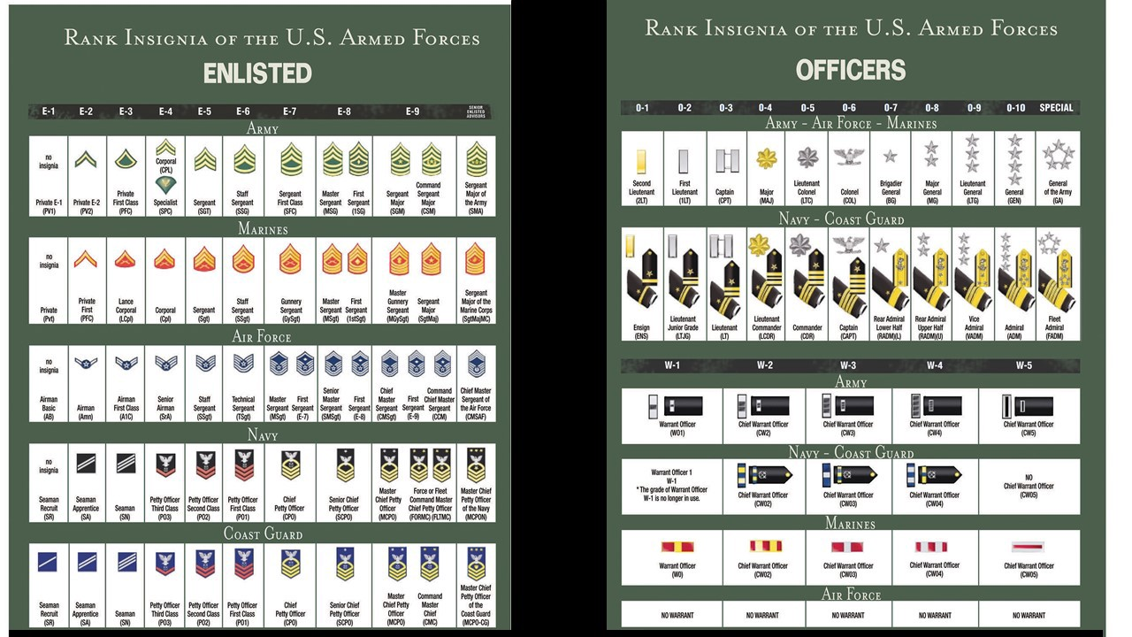 How To Understand Us Military Rank Structure Chad Storlie Medium