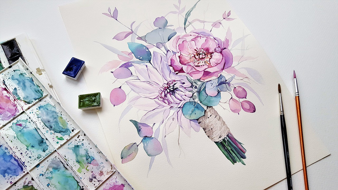 learn basic watercolor painting on april first saturday