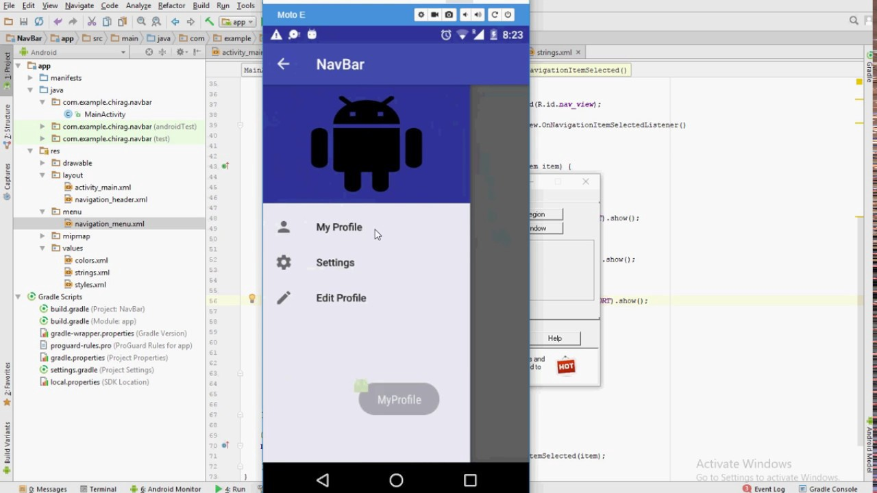 This Post Will Help You Install My Material Navigation Drawer Template On Android Studio Create Lications Using Design