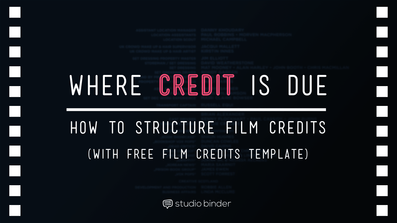 Where Credit is Due. Film Credits Order Hierarchy (with Free Film ...