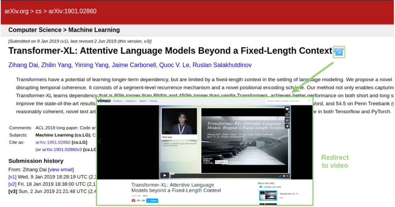 'Papers-With-Video' Browser Extension Adds Video Access to arXiv
