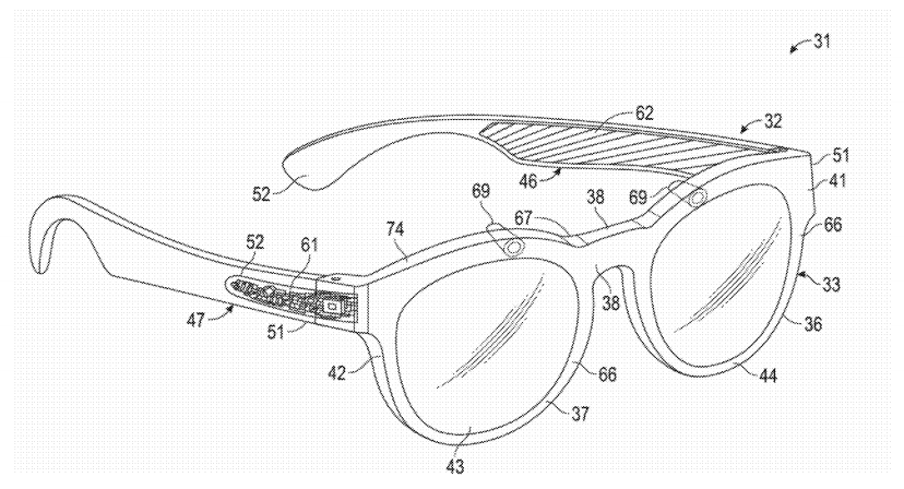 Snapchat AR-enabled wearable patent