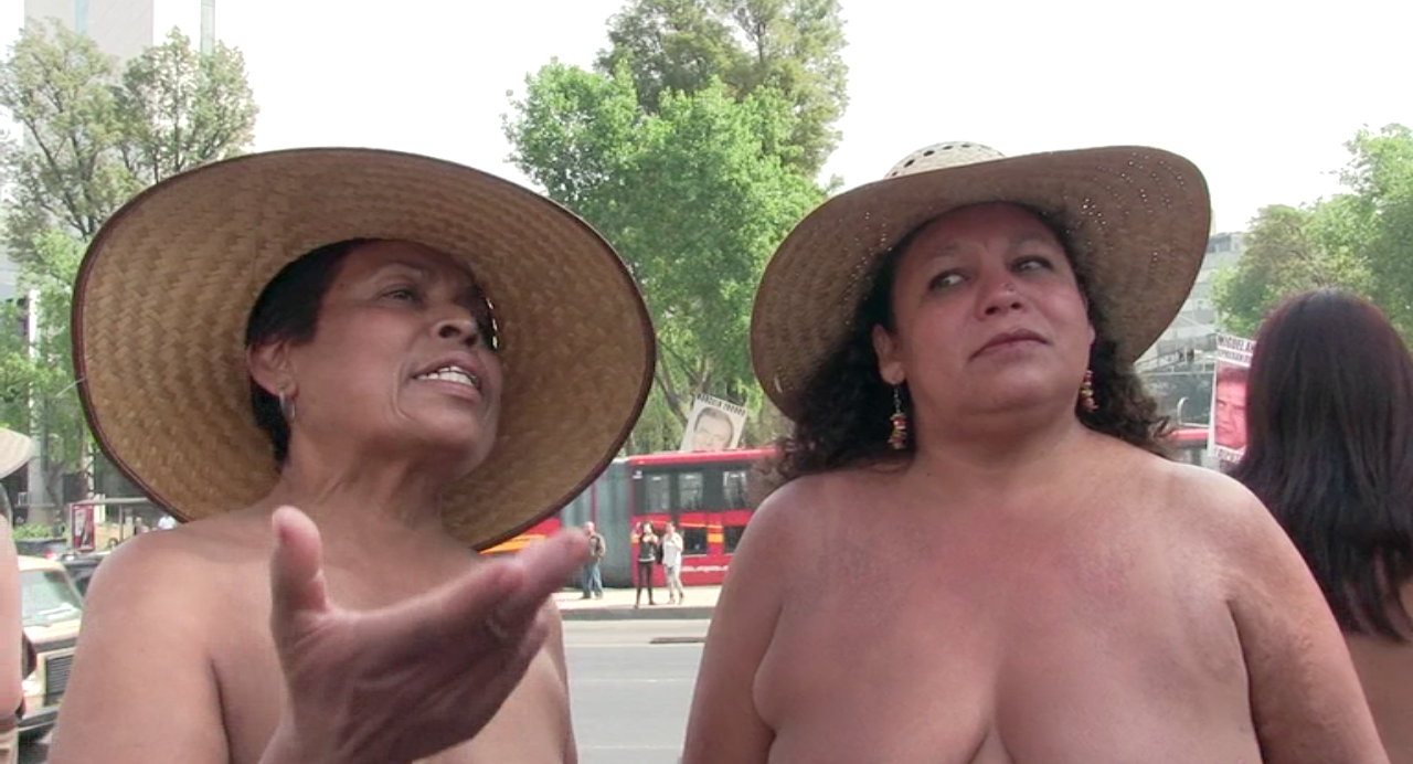 protesters Naked mexican