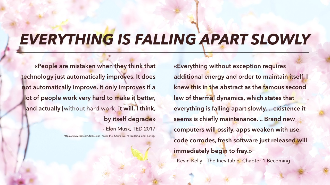 everything is falling apart slowly customer insight