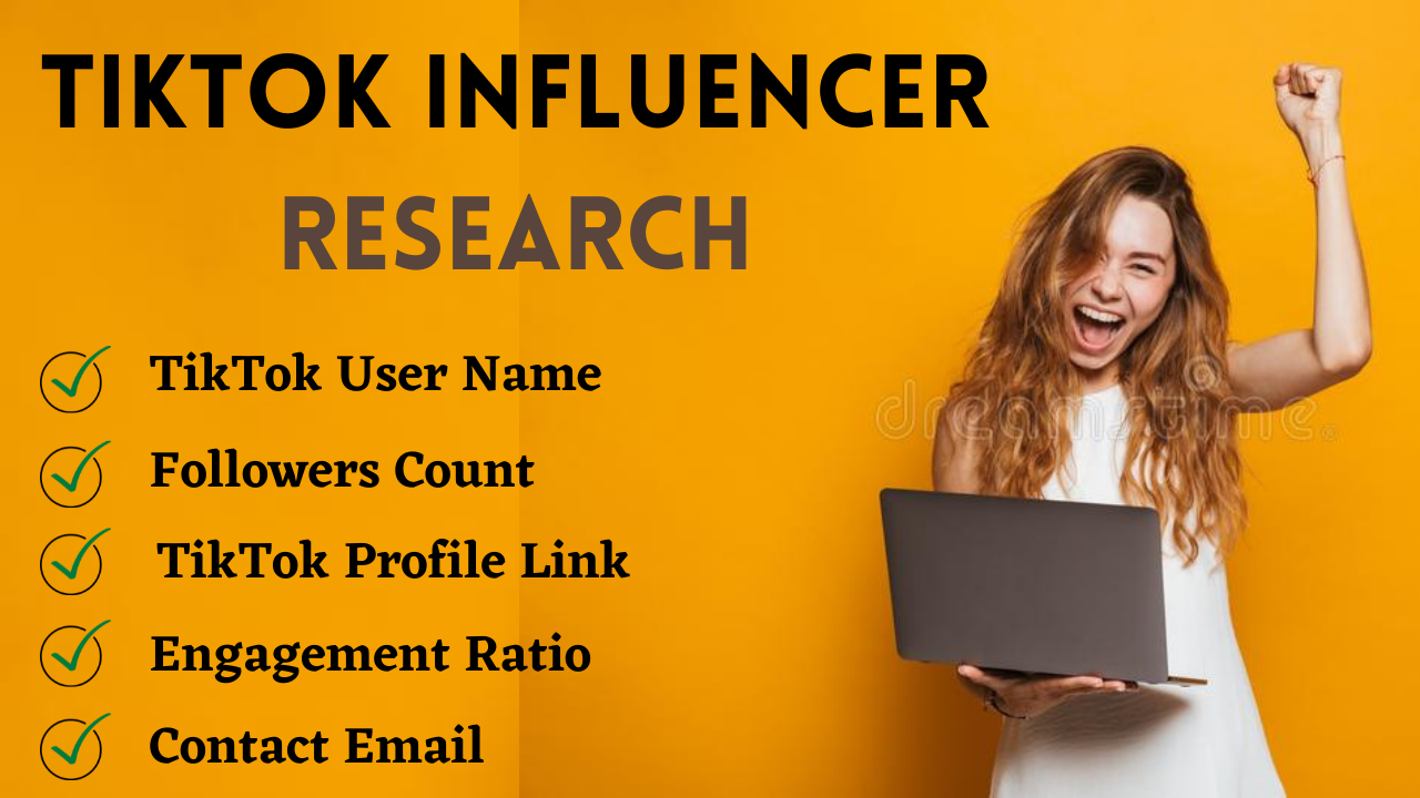 I will find the best Tik Tok influencers for your business