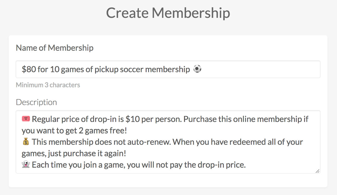 Set up a punch-pass membership | OpenSports