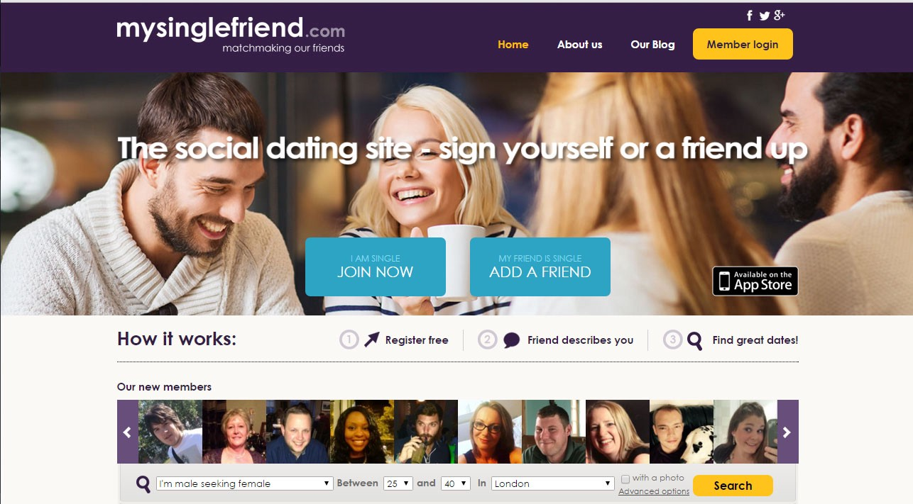 dating website recommend friend