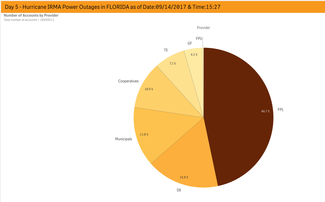 Effect on power lines in florida hurricane irma sept 2017 chart 1 share of each provider by number of accounts nvjuhfo Choice Image