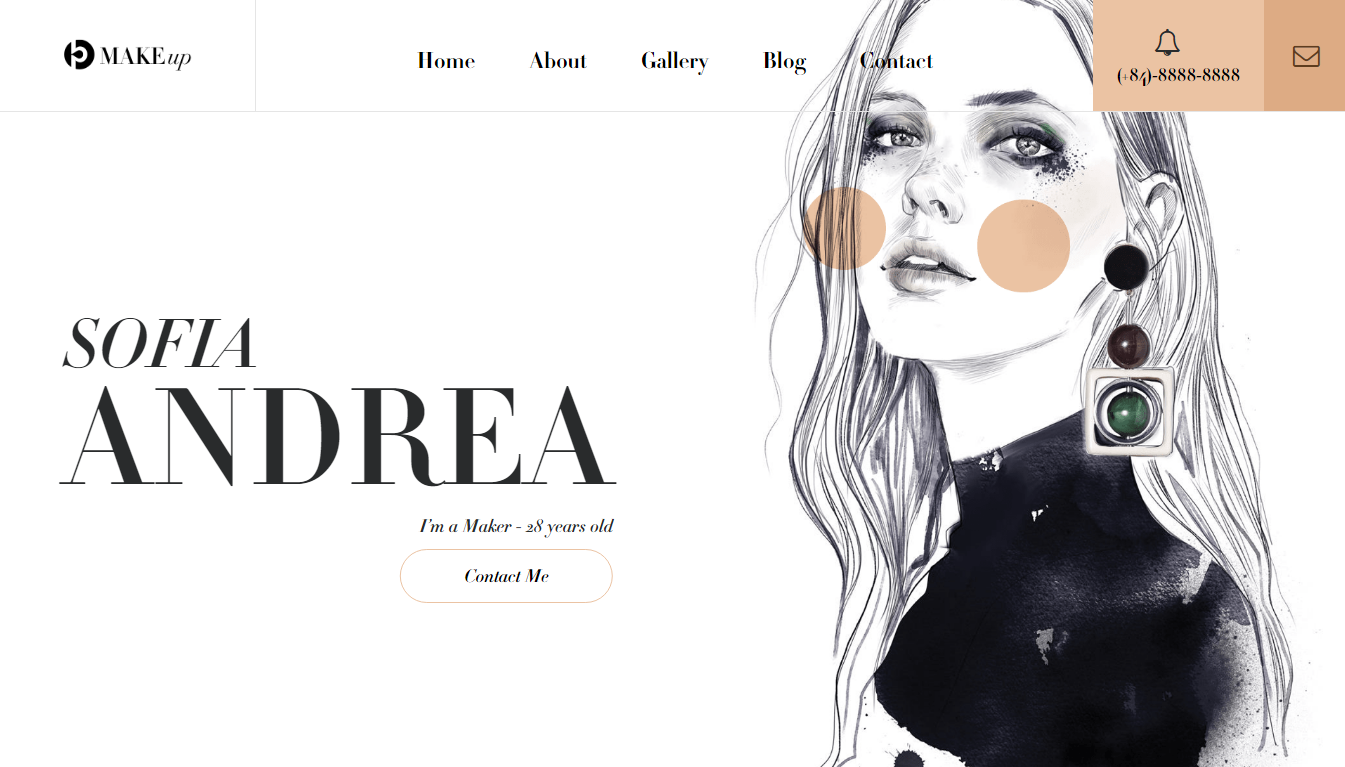 Creative Makeup Website Templates Beautheme1234ab Medium
