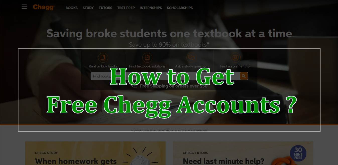 chegg study account username and password