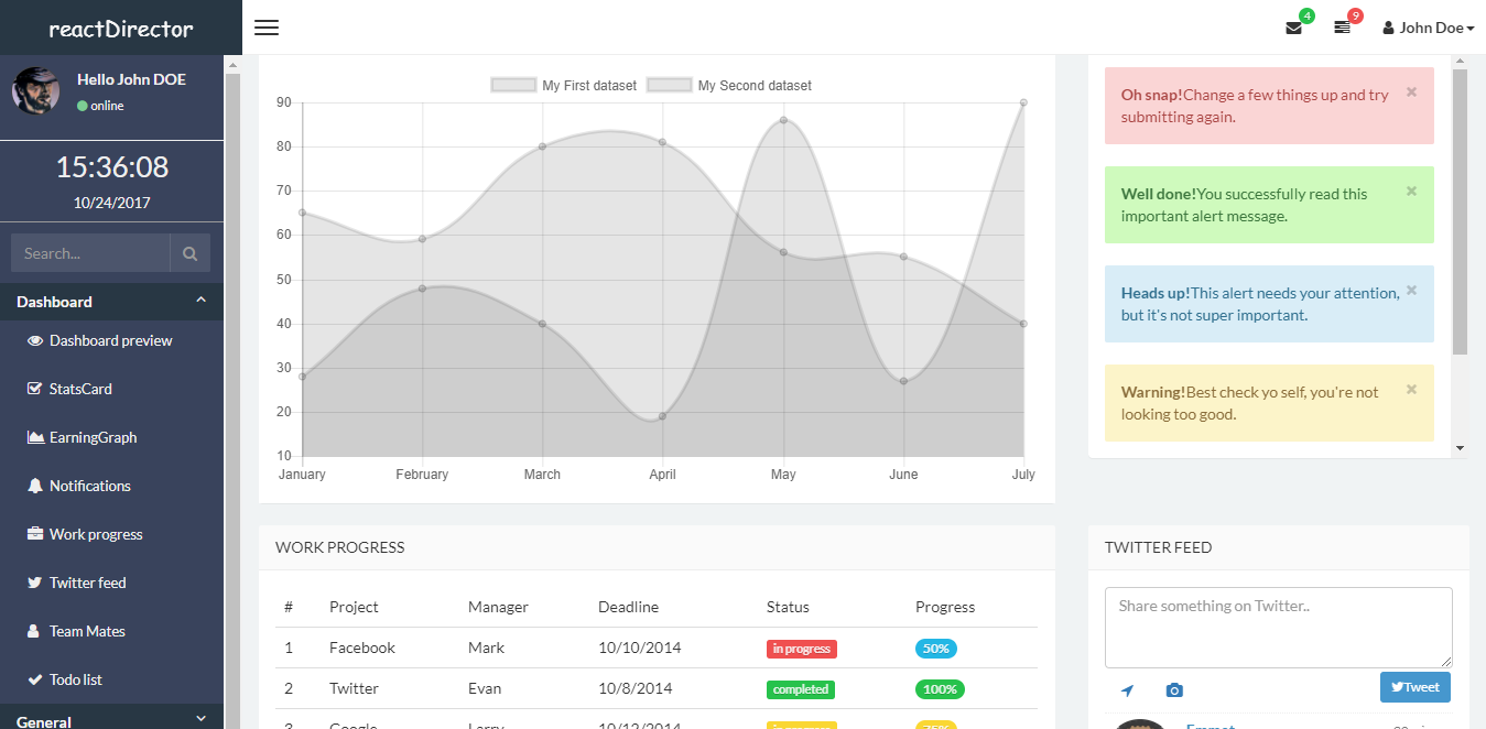 11 Best Free And Premium Responsive React Admin Templates