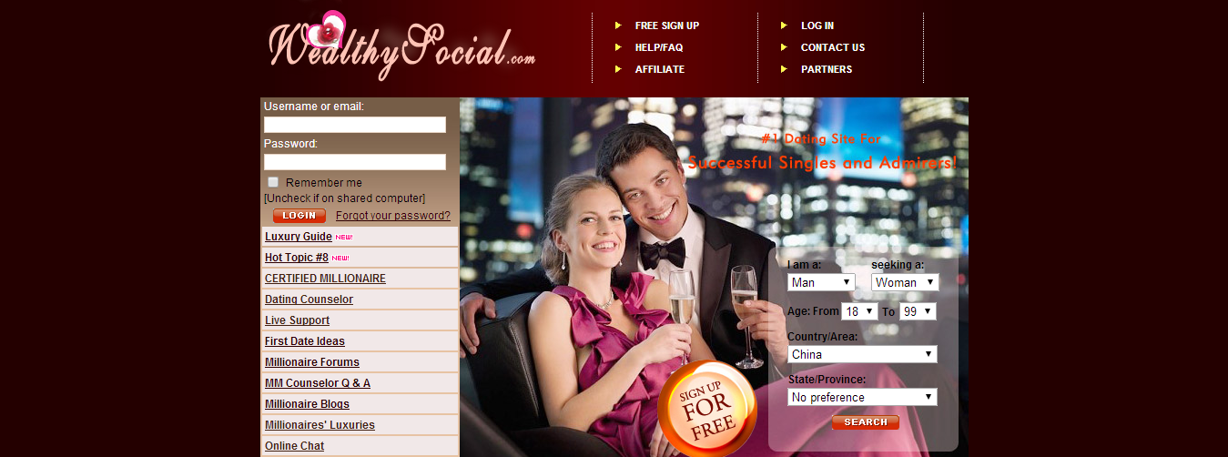 wealthy man dating site