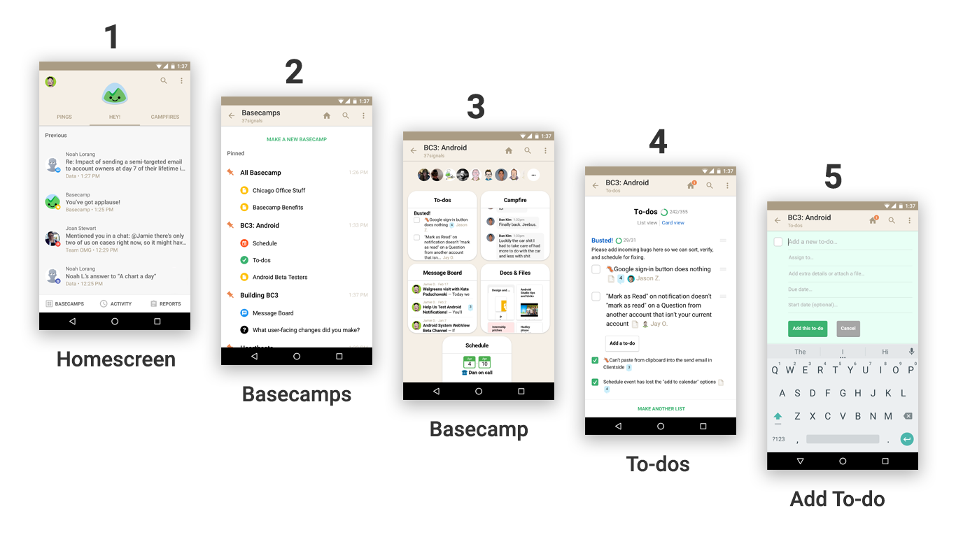 Only on Android: Add Basecamp 3 To-dos, Events, Messages, and Files ...