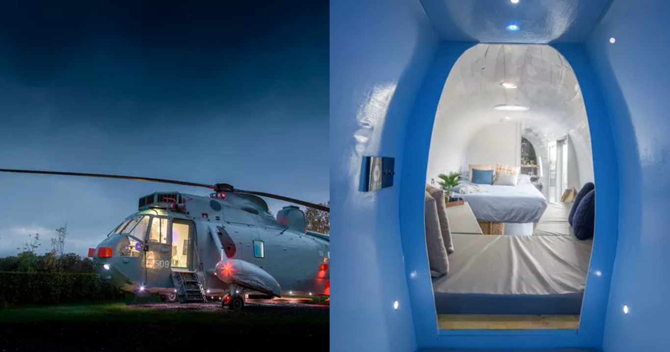 You Can Now Go Glamping Inside A Helicopter OMGFacts Medium