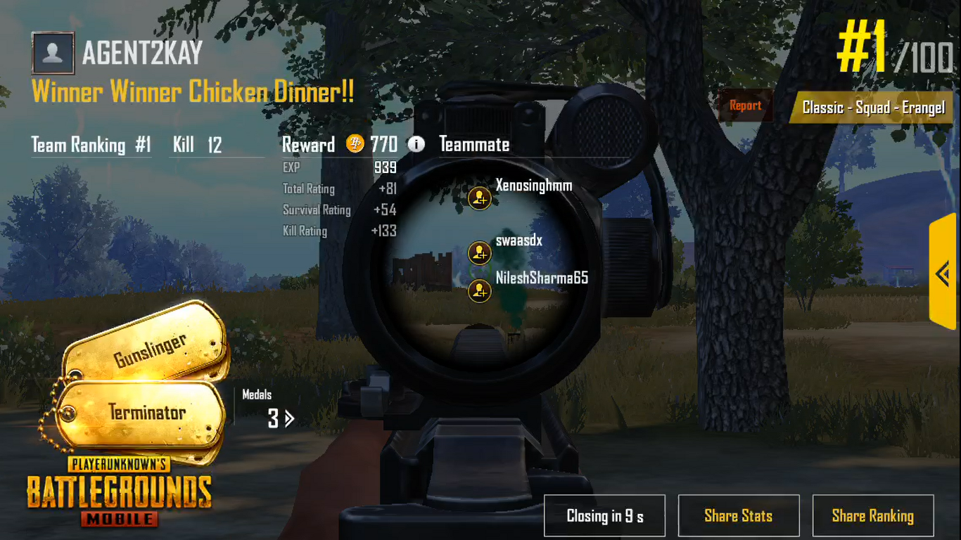 Gambar Pubg Mobile Chicken Dinner