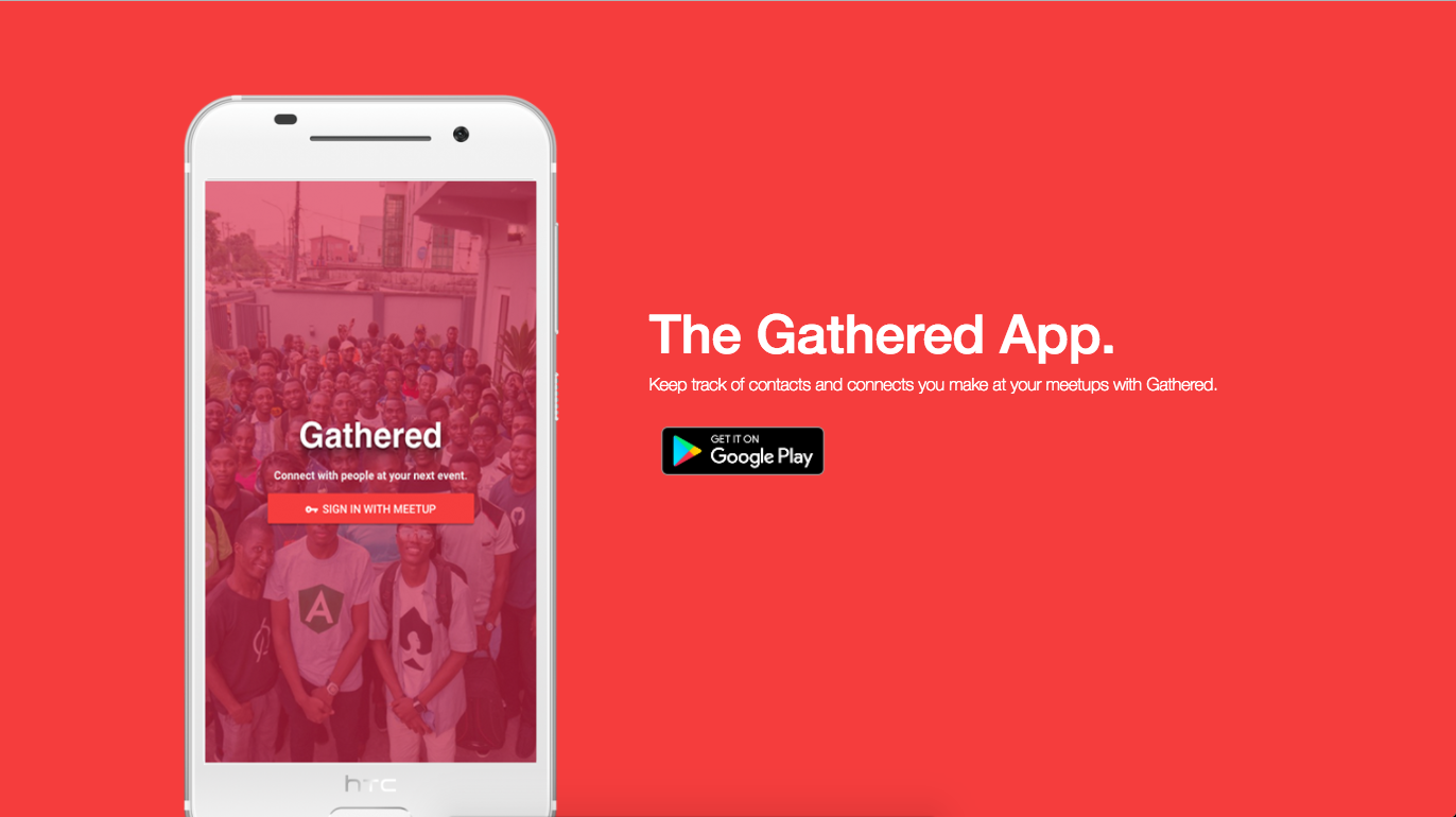 Keep track of contacts and connects you make at your meetups with Gathered