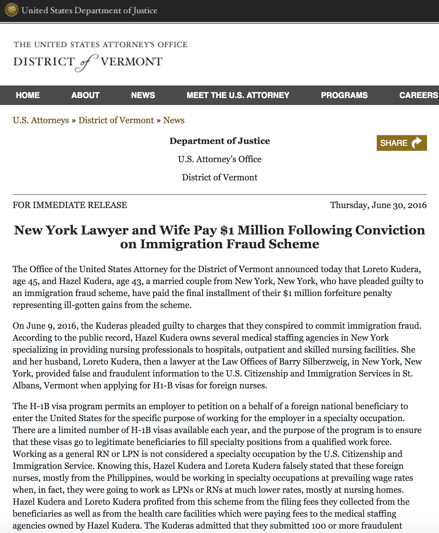 A New Practice Takes Over After Immigration Scammer Pleads Guilty