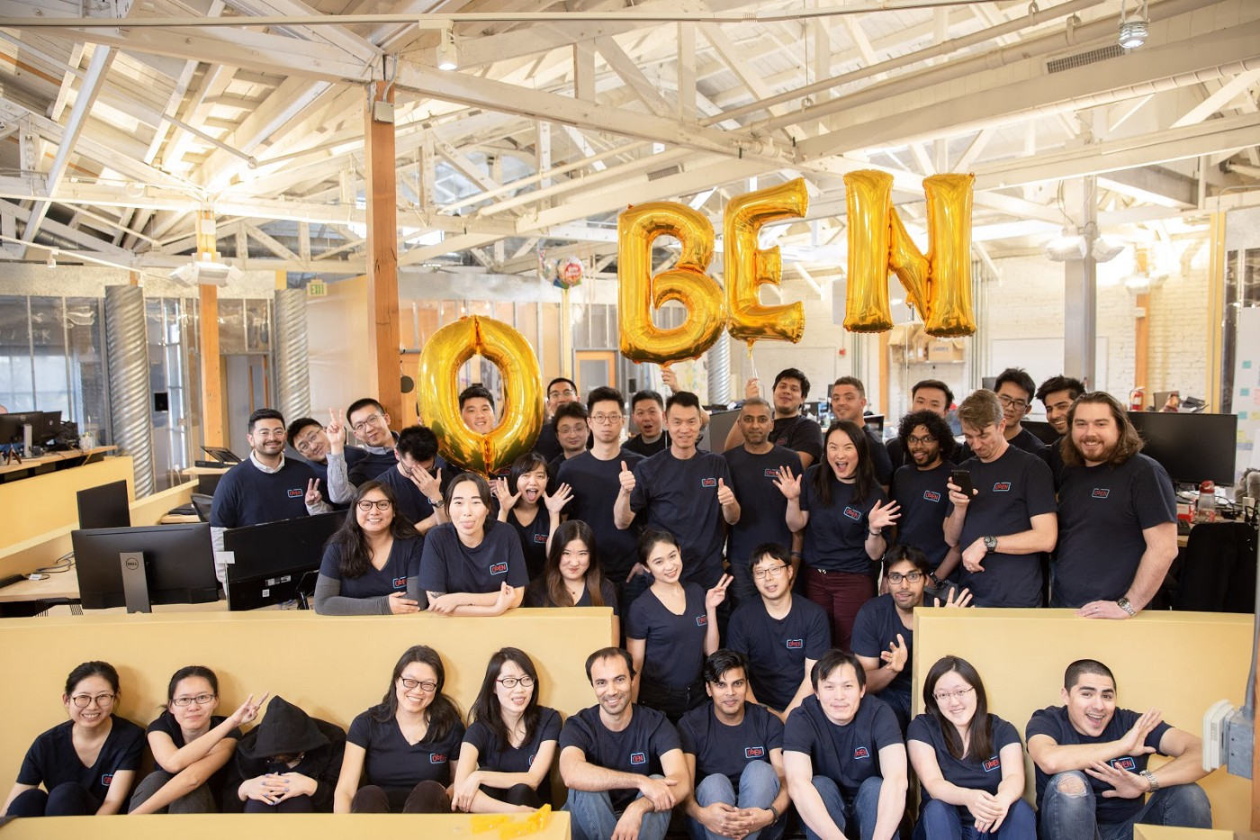 Oben new team photo for the new year — we take our work very seriously, but picture day…not so much