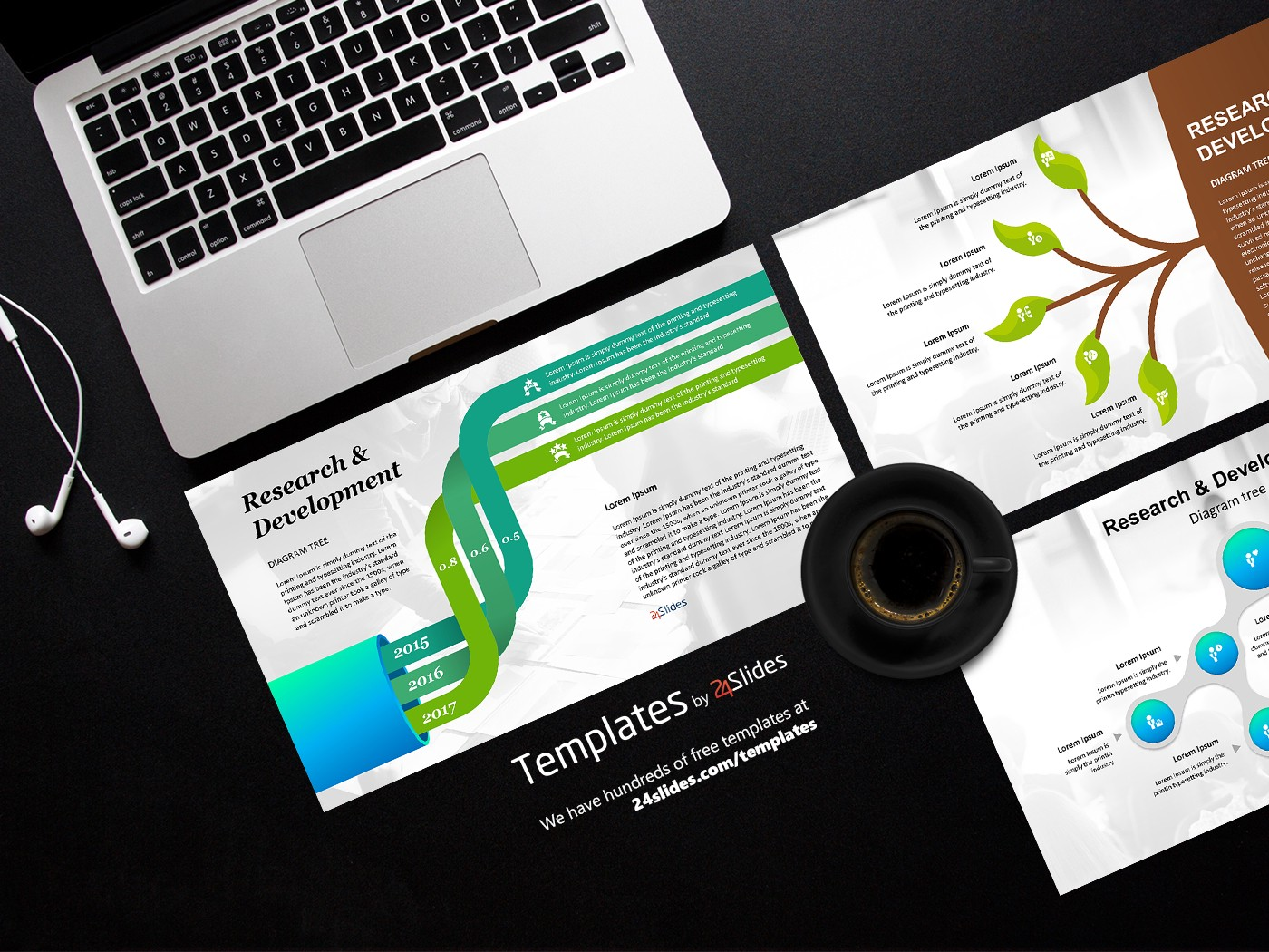 Tree Diagram Presentation Template Free Download Free