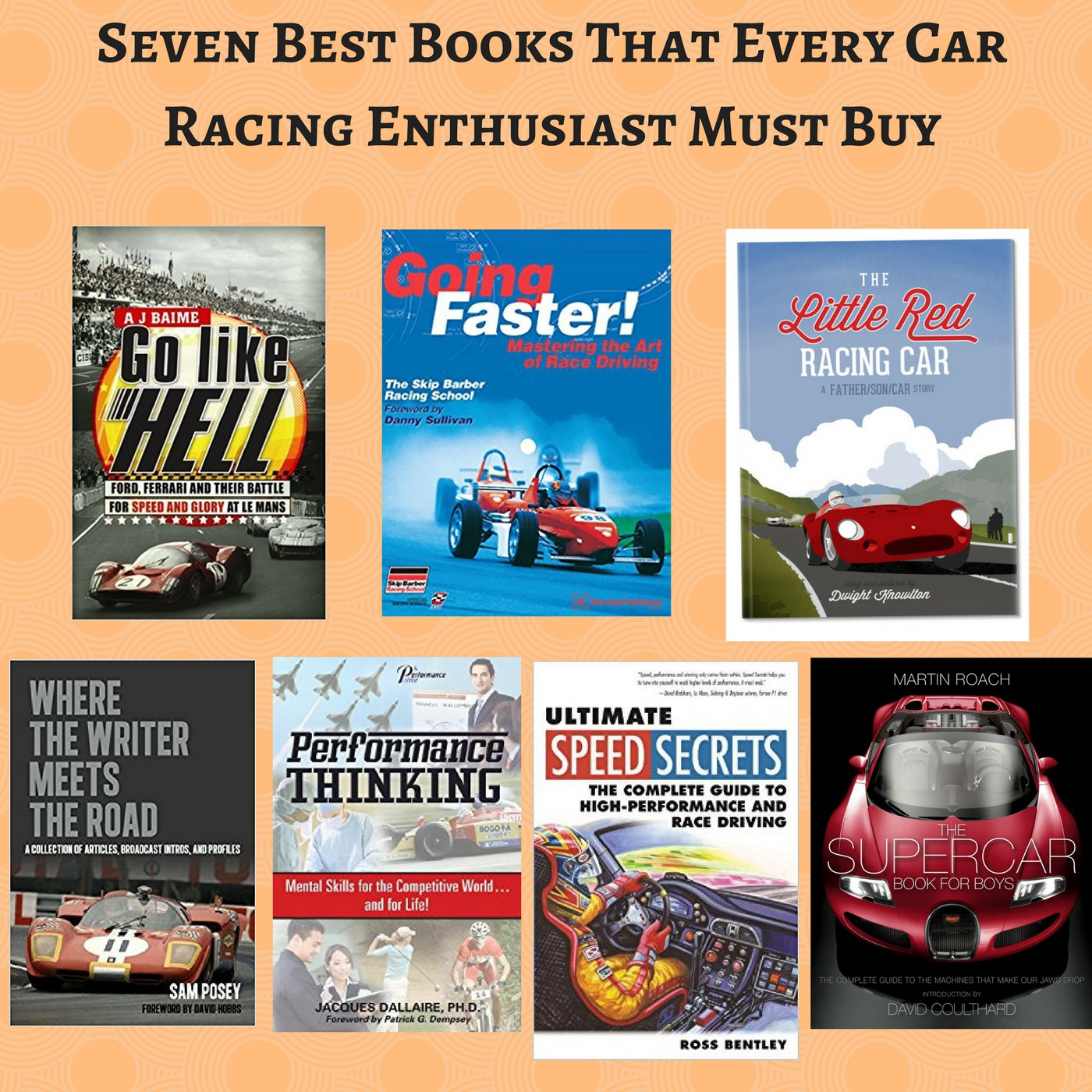 Seven Best Books That Every Car Racing Enthusiast Must Buy