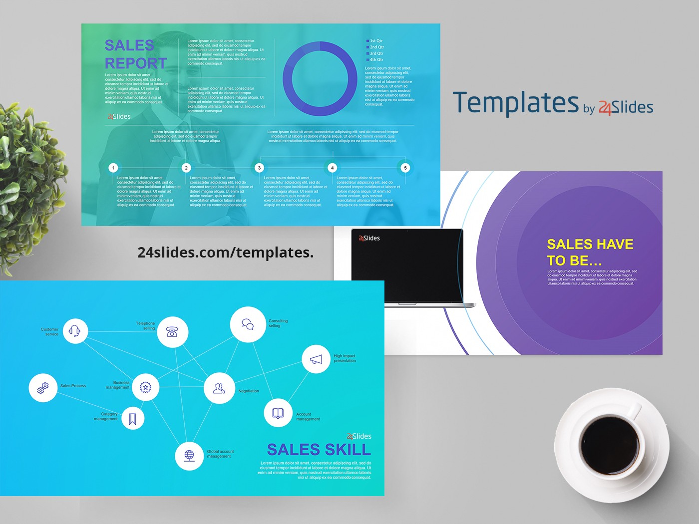 general sales slides presentation template free download