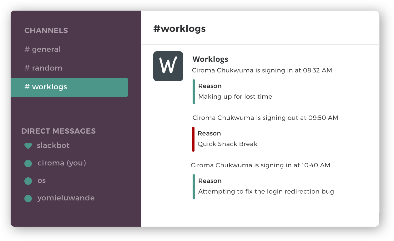 Worklogs - time tracking tool for remote teams