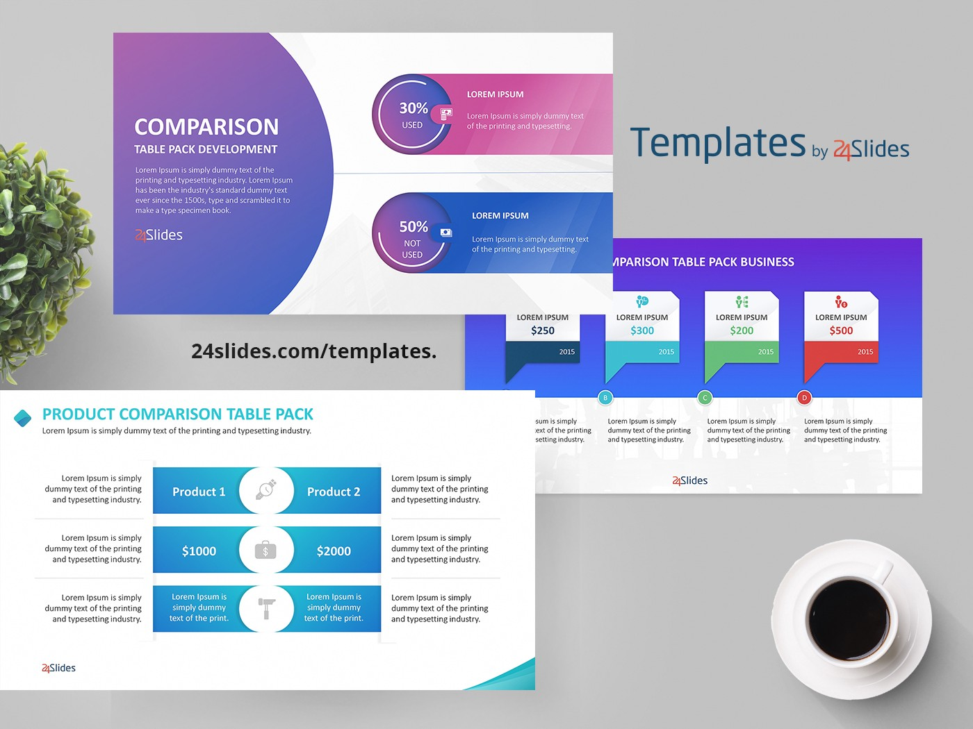Comparison business development presentation template free download wajeb