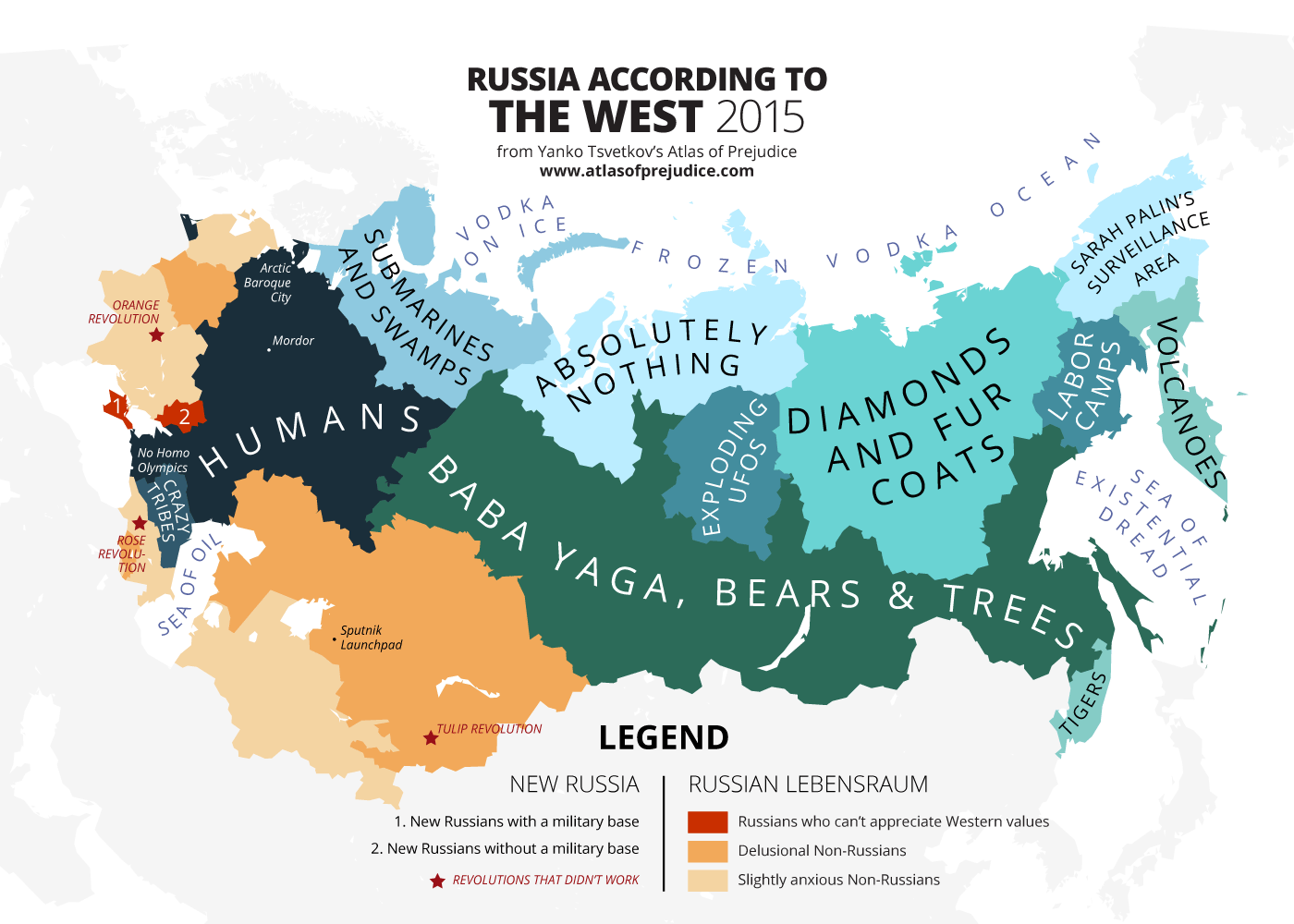 Russia Seen From The West Atlas Of Prejudice - Russia world map